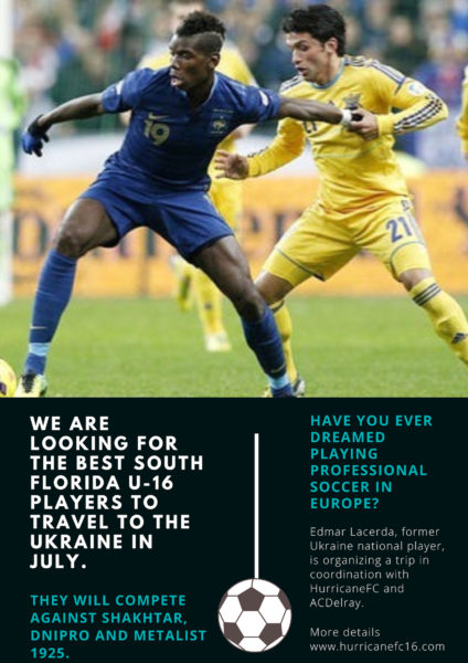 We are looking for the best South Florida U-16 players - Hurricane FC